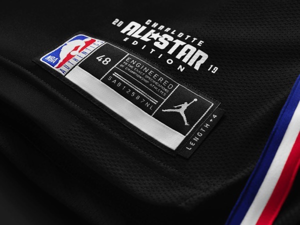 Jordan all star uniform 2019 black tag