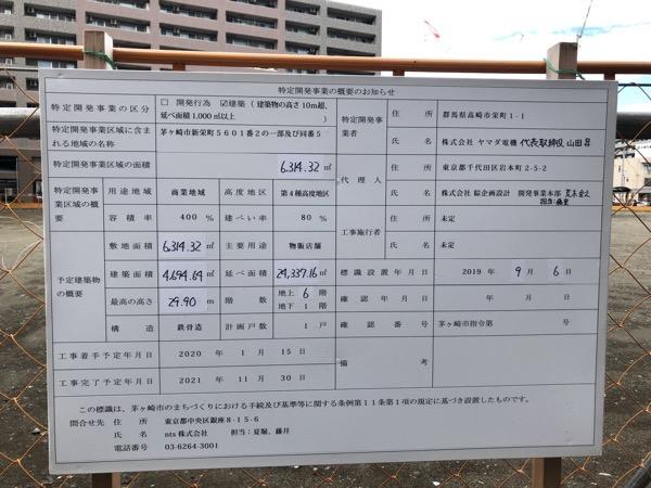 茅ヶ崎駅前跡地工期看板