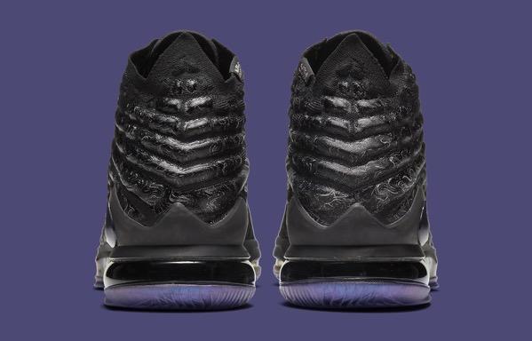Nike lebron 17 vii currency bq3177 001 heel