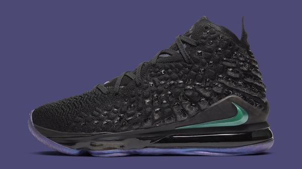 Nike lebron 17 vii currency bq3177 001 lateral