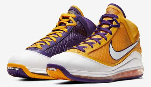 """Nike LeBron (レブロン) 7 """"Lakers""""が登場。昨年LEBRONが着用した左右非対称モデル。"""